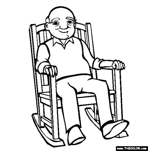 colouring and painting rocking chair coloring page free rocking chair