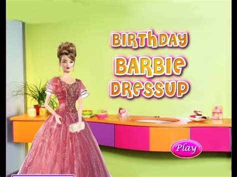 barbie free online games barbie birthday party game