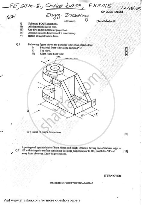 engineering drawing    printing  packaging technology semester  fe  year