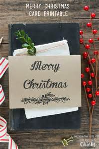 Holiday cheer this year with this free merry christmas card printable