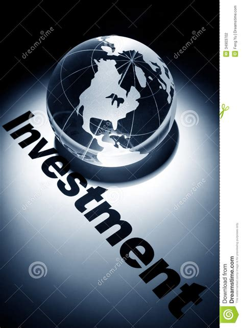 global investment stock photo image  blue