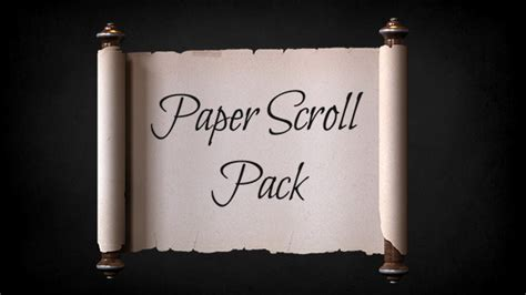 Videohive Paper Scroll Pack Template Free After Effects Template Videohive Projects Scrolling Text After Effects Template