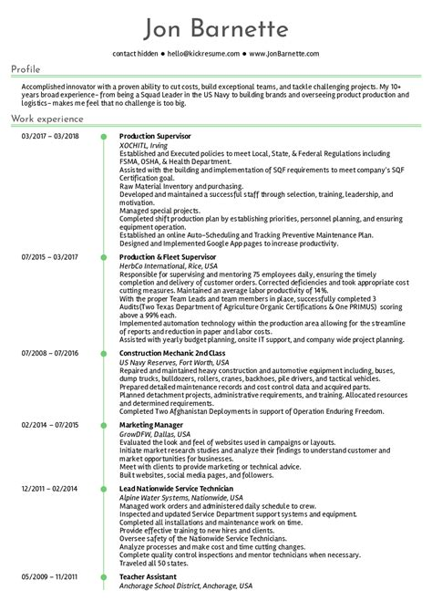 interesting production manager resume sample pdf for animation