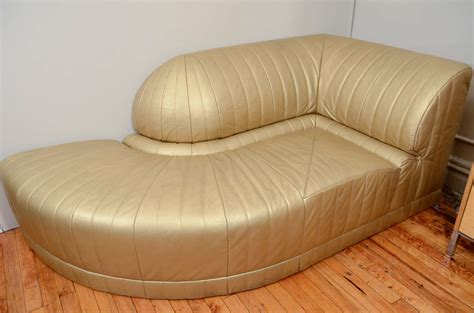 deco chaise lounge vintage art deco gold leather corner chaise lounge at 1stdibs