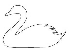 swan pattern printable outline crafts creating stencils scrapbooking