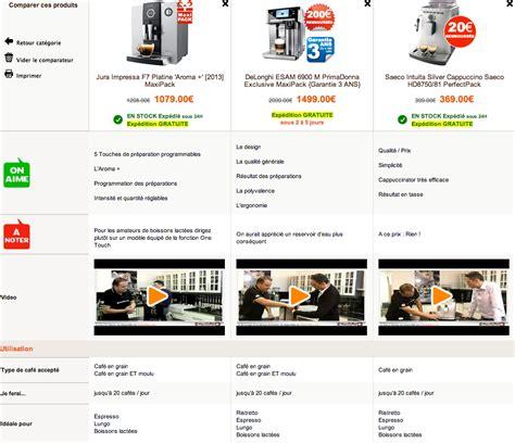 Machine A Cafe Comparatif 4007 by Tableaux Comparatifs Machines 224 Caf 233 Expresso