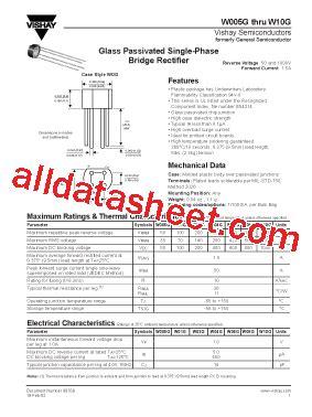 diode bridge w04g w04g datasheet pdf vishay siliconix