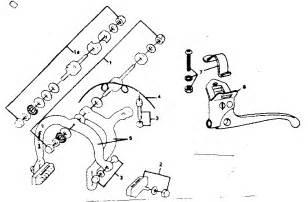 Bicycle Brake System Diagram Bike Parts Drawing