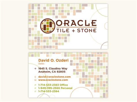 Oracle Business Card Template by Oracle Business Card Choice Image Business Card Template