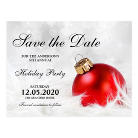 save the date holiday party free template save the date postcards zazzle