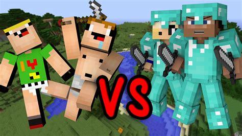 noobs vs pros minecraft