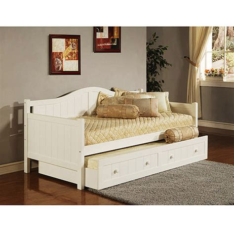 day bed trundle staci daybed with trundle white walmart com