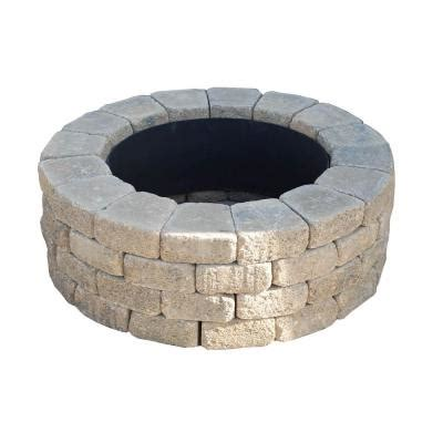 pit blocks home depot nantucket pavers ashford 47 in pit ring kit