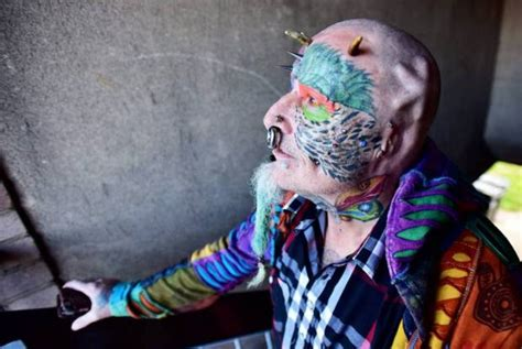 extreme tattoo in pickering parrot man ted richards gets ears cut so he can look