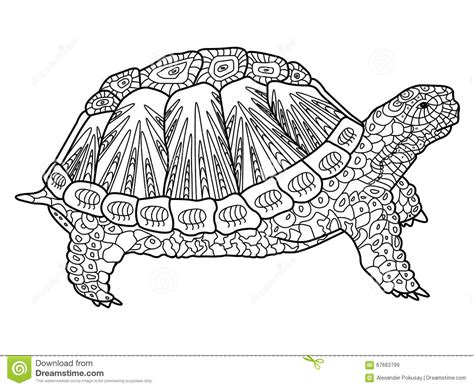 color sweet animals a grayscale coloring book books turtle coloring book for adults vector stock vector