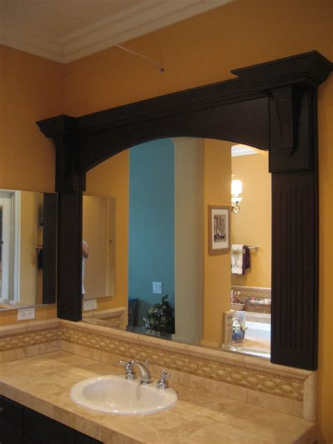 custom framed bathroom mirrors custom mirror frame