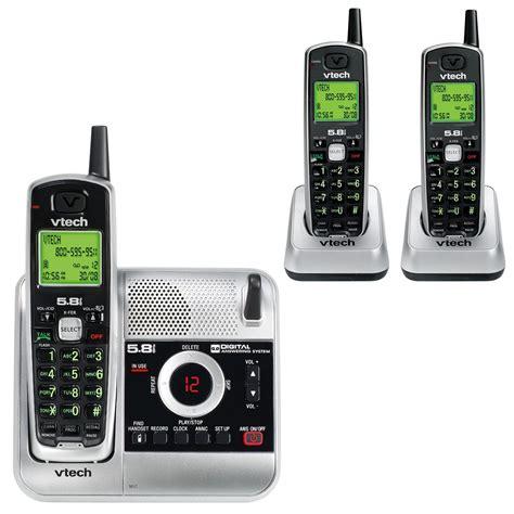 Vtech Cs5121 3 80 6229 00 5 8ghz 3 Handset Cordless Phone System W Digital Answering