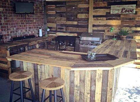 pallet kitchen outdoor spaces outdoor kitchen design
