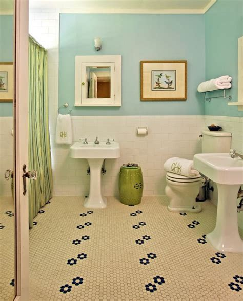 penny tiles bathroom penny bathroom tiles design home decorating trends homedit