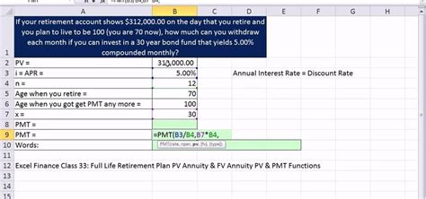 how to calculate monthly retirement income in microsoft