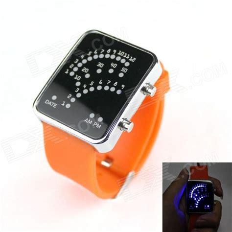 Fashionable Led Light Racing Speedometer Watch Orange Led Lights Cing