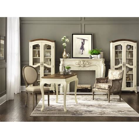 home decorator home depot home decorators collection provence ivory writing desk with ash grey top 9939300510 the home depot