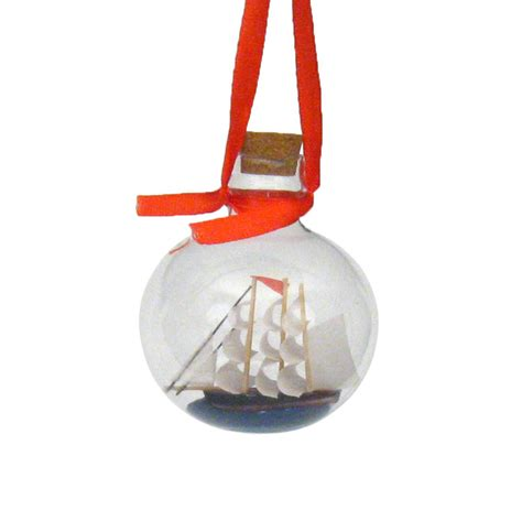 ship in a bottle coastal christmas tree ornament clipper