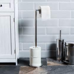 Free Standing Toilet Paper Holder With Storage by Toilet Paper Holder Free Standing Loo Roll Tissue Storage