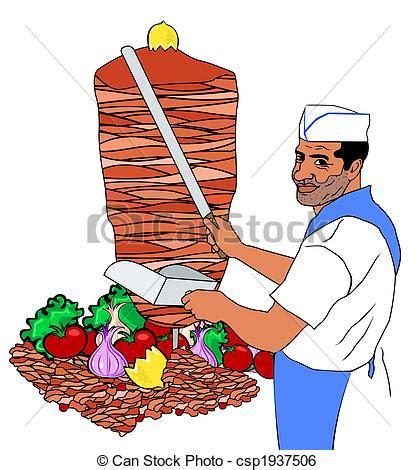 kebab clipart illustration de chiche kebab csp1937506 recherchez des