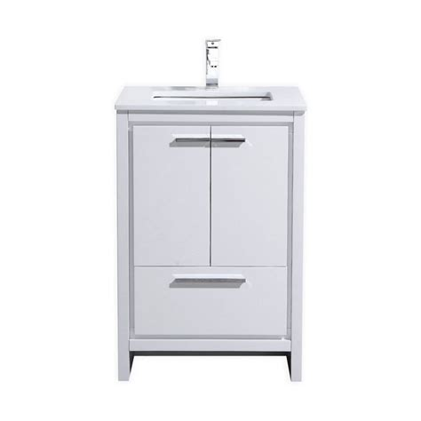 High Bathroom Vanities Kubebath Dolce 24 High Gloss White Modern Bathroom Vanity
