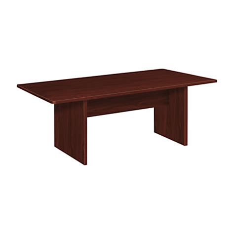 Rectangular Conference Table Basyx By Hon Bl Series Rectangular Conference Table With Slab Base Mahogany By Office Depot