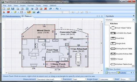 blueprint drawing software free simple floor plan software floor plan design software free