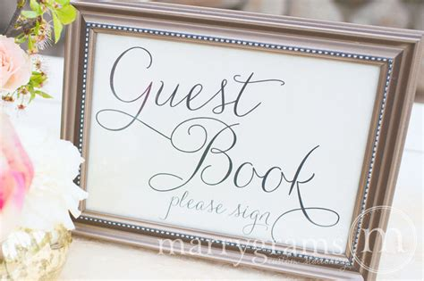 Sign In Book Wedding Guest Book Table Card Sign Wedding Reception Seating Signage