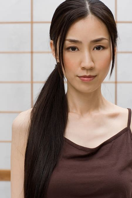 asian stars with bangs side ponytail hairstyles with bangs hairstyle stars