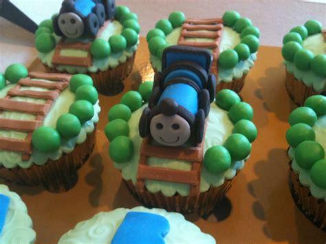 scrumptious homemade thomas  train cupcakes