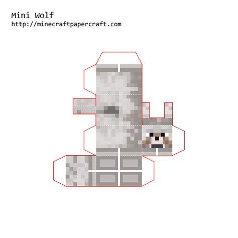 Minecraft Papercraft Black And White - papercraft minecraft wolf