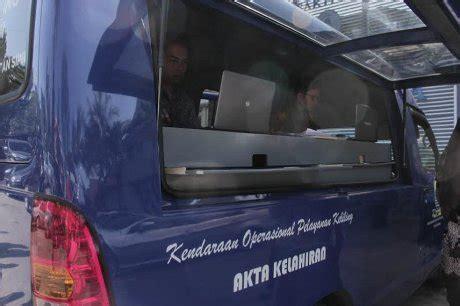 buat akte kelahiran di bali mobil keliling siap jemput bola buat akta kelahiran di bandung