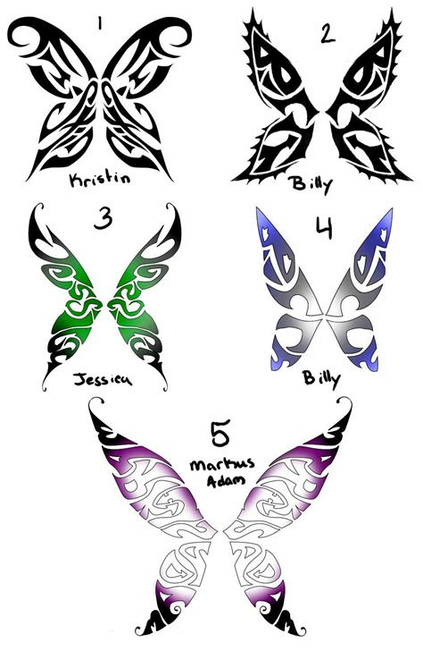 types of tattoo design butterfly tattoos and designs page 83