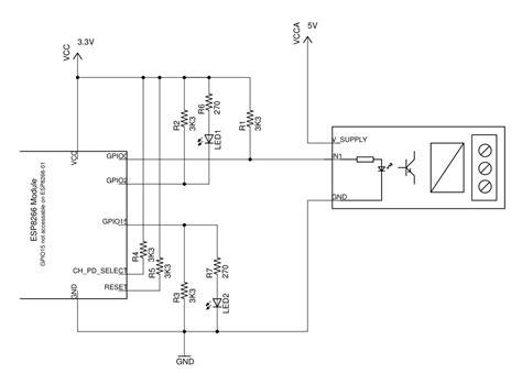 pull up resistor esp8266 using esp8266 gpio0 gpio2 gpio15 pins