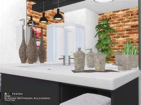 Bathroom Decor Objects Bladjan Bathroom Accessories By Artvitalex At Tsr 187 Sims 4