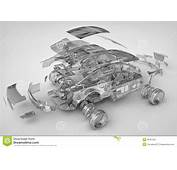 Exploded Transparent Car Stock Photos  Image 28761553