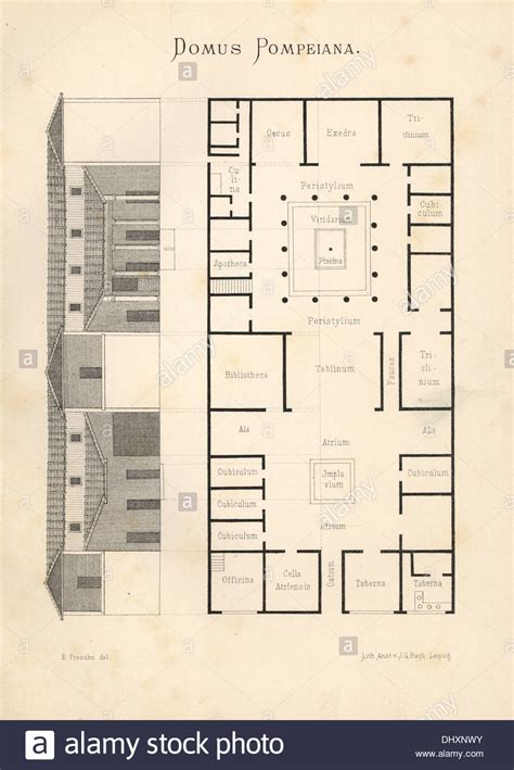 Pompeii House Plan Ancient Pompeii House Plan Escortsea