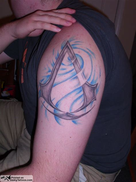 assassins creed tattoos assassin s creed geeky tattoos