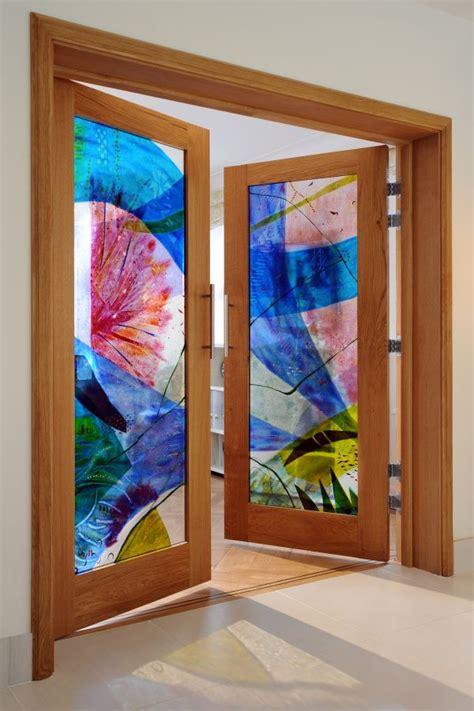 Coloured Glass Doors Sculpture Doors Abstract Coloured Glass Door Panel By Sculptor Arabella Marshall In