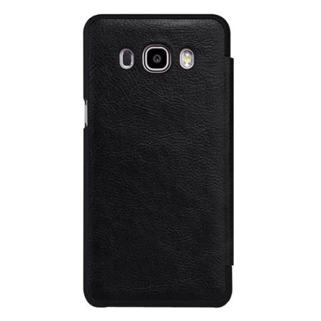 Samsung J5 Leather Wallet Sarung Dompet Armor Cover Flip Casing nillkin qin real leather samsung galaxy j5 2016 window black