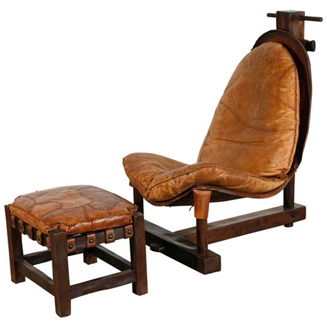 unusual ottomans unusual handmade chair and ottoman at 1stdibs