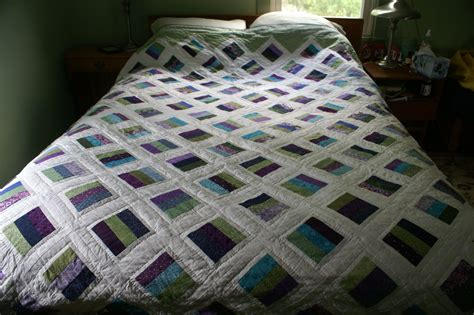 Quilt On Bed by Quilt On Bed 2 Greens And