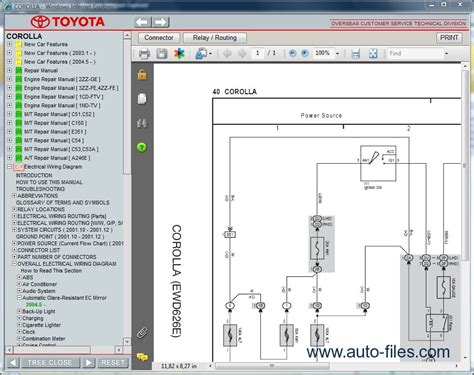 car repair manuals download 2005 toyota corolla electronic throttle control toyota corolla repair manuals download wiring diagram electronic parts catalog epc online