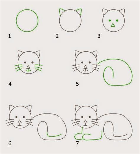 cara membuat gambar 3d hewan cara menggambar kucing