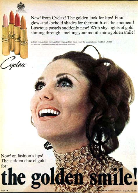 Sponsor Ad New Cosmetics Lip Shine by High Gloss And Pink Lipstick Adverts From The 1960s